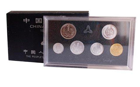 1994年中国流通硬币套装(全新6枚)藏蓝色包装 真品收藏投资 珍藏 送礼,人民币收藏,中国钱币收藏网,纸币收藏网