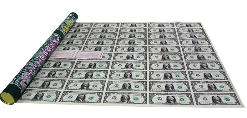 1美元50连体钞  美元连体纪念钞  带圆筒证书,人民币收藏,中国钱币收藏网,钱币商城