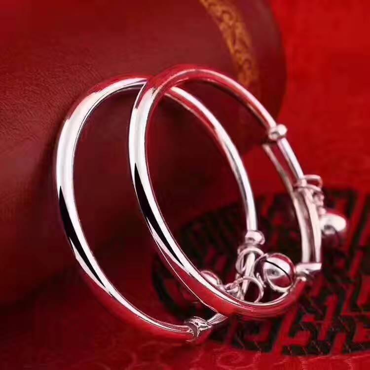 足银999 纯铃铛光面圆肚 小孩手镯,人民币收藏,中国钱币收藏网,钱币商城