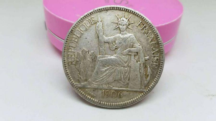 壹元 银圆 坐洋 法国  26克多,人民币收藏,中国钱币收藏网,纸币收藏网