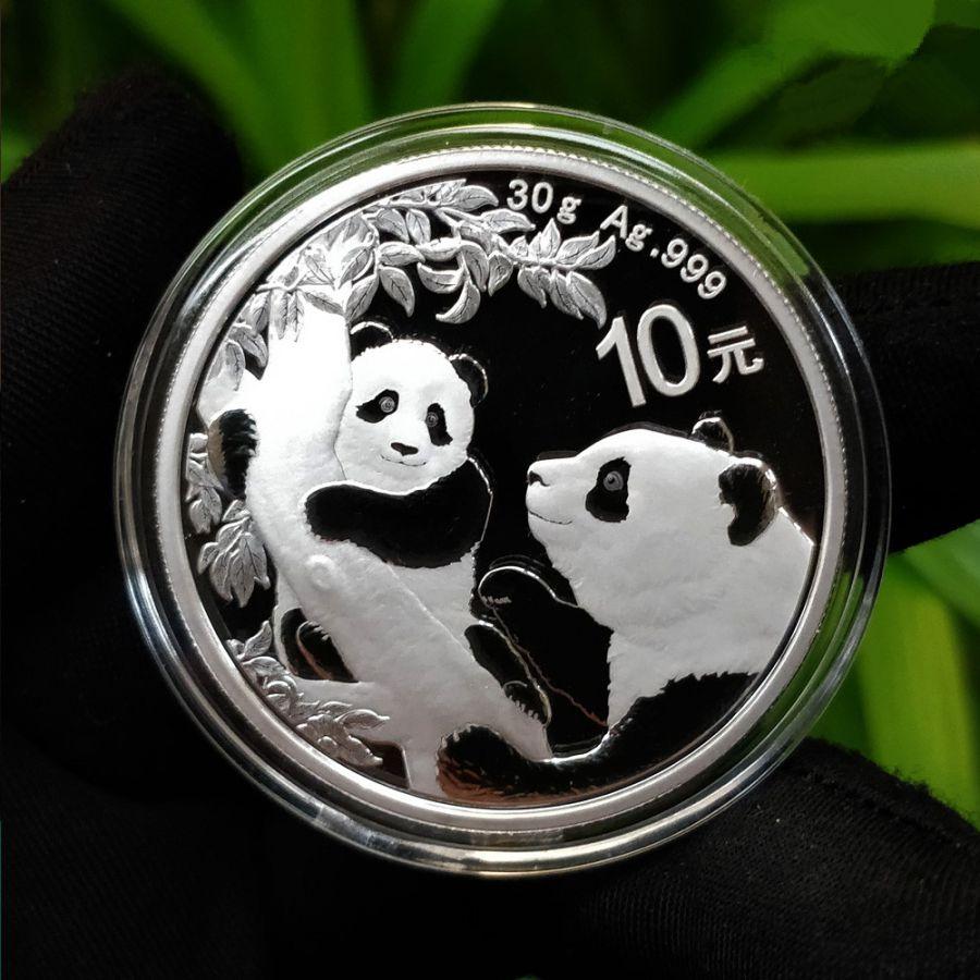 2021年 熊猫银币 10元 30克 999纯银 全品  保真保新 带证书 带珍藏盒,人民币收藏,中国钱币收藏网