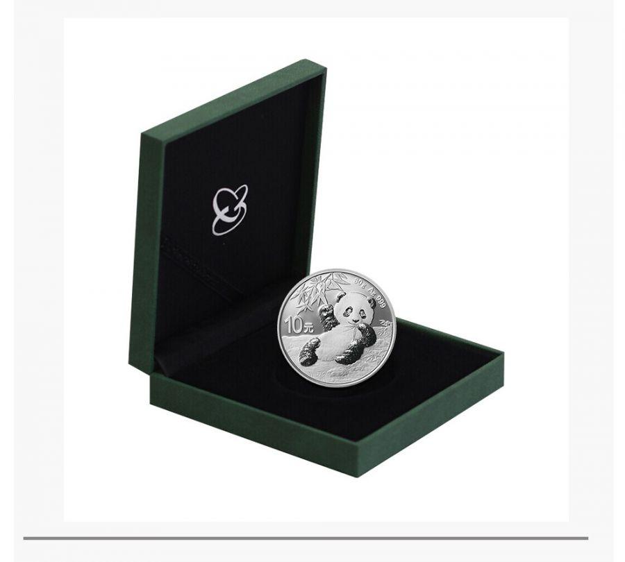 2020年 熊猫银币 30克圆形纪念币熊猫币 有证书+收藏盒 中国金币公司,人民币收藏,中国钱币收藏网,纸币收藏网